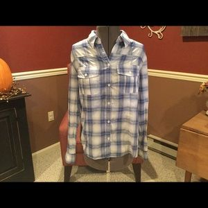 Women's NY&C plaid button down shirt
